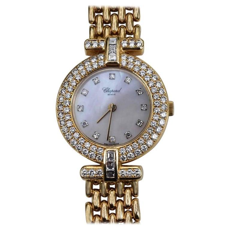 Chopard Ladies Yellow Gold Diamond Quartz Wristwatch