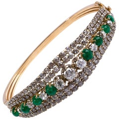 1930s Diamond and Emerald Bracelet