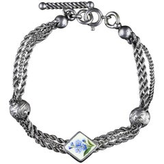 Antique Victorian Forget Me Not Bracelet, circa 1980
