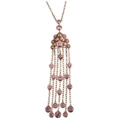 Cartier Legers Pink Sapphire Necklace