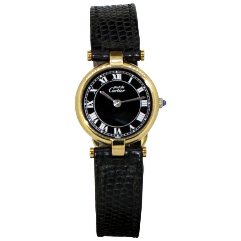 """Cartier Ladies """"Argent"""" Gold-Plated and Sterling Silver Quartz Wristwatch, 1970"""
