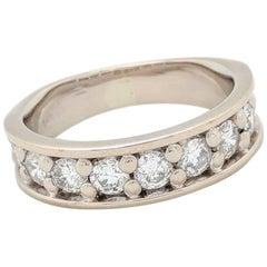 14 Karat White Gold 1 Carat Prong Set Diamond Wedding Band Ring