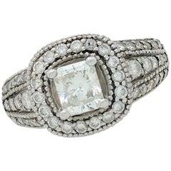 14 Karat 1 Carat Radiant Cut Diamond Engagement Ring/1.80 Carat