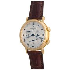 Breguet Yellow Gold Classique GMT Alarm Power Reserve Automatic Wristwatch