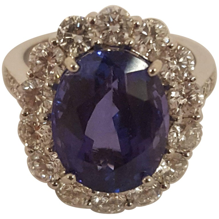 Tantalizing Tanzanite Diamond Ring