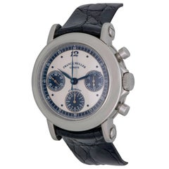 Franck Muller Platinum Stainless Steel Rotor Chronograph Automatic Wristwatch