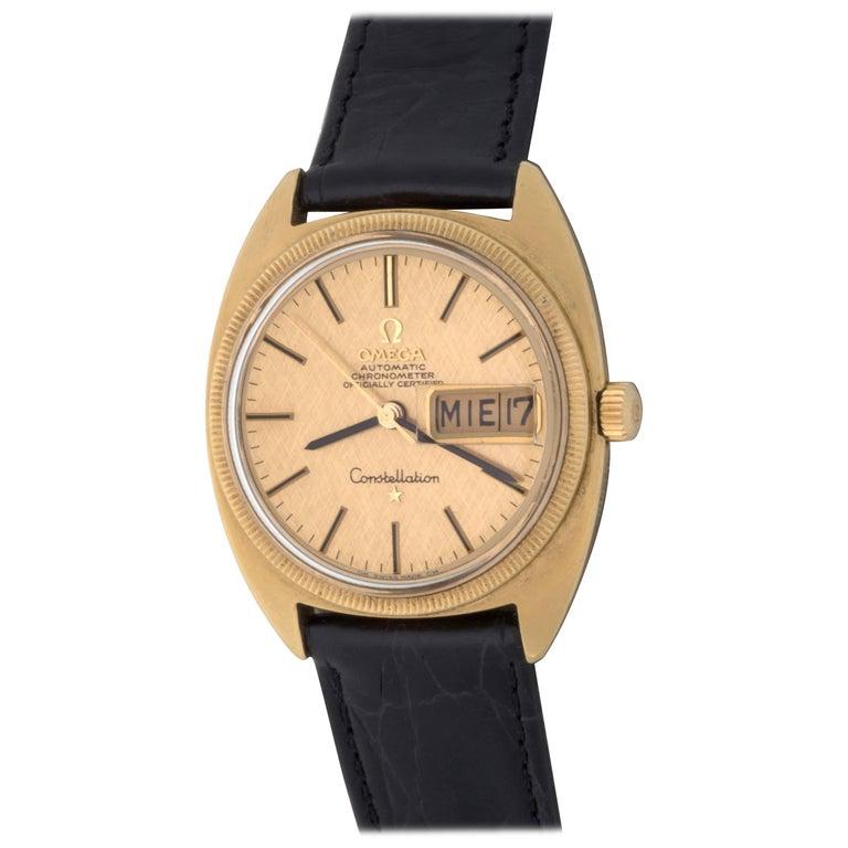 Omega Yellow Gold Constellation Date Automatic Wristwatch, circa 1969