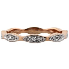 Mark Broumand 0.25ct Round Brilliant Cut Diamond Eternity Band in 18k Rose Gold