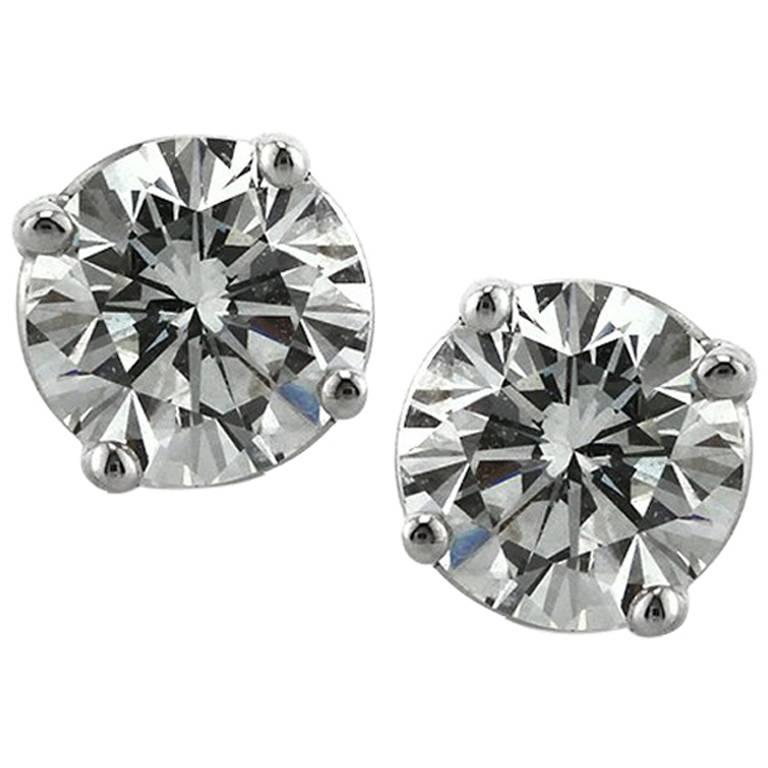 earrings stud white solid diamond gold p ct w diamonds black with natural carat htm