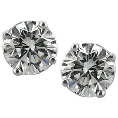 Mark Broumand 1.41ct Round Brilliant Cut Diamond Stud Earrings in 14k White Gold