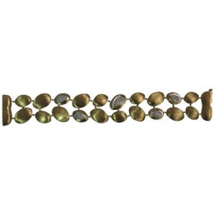 Marco Bicego 18 Karat Yellow Gold Diamond Bracelet
