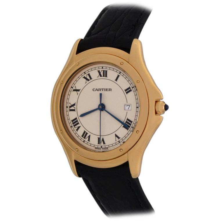 Cartier Ladies Yellow Gold Cougar Quartz Wristwatch