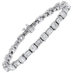 18K White gold Elegant Diamond Tennis Bracelet