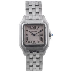 Cartier Stainless Steel Panthere Bracelet Quartz Wristwatch