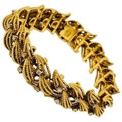 Triumphant Le Triomphe 18 Karat Diamond Bracelet, 1950s