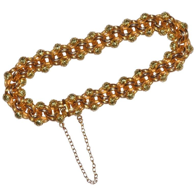 Flower Chain Yellow Gold 18 Carat Bracelet