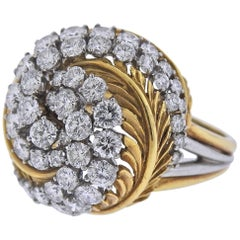 McTeigue 1960s Diamond Gold Platinum Ring