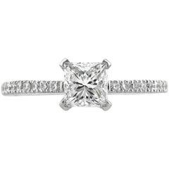 Mark Broumand 1.18 Carat Princess Cut Diamond Engagement Ring