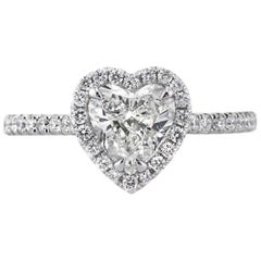 Mark Broumand 1.40 Carat Heart Shaped Diamond Engagement Ring