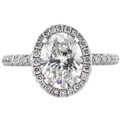 Mark Broumand 2.56 Carat Oval Cut Diamond Engagement Ring