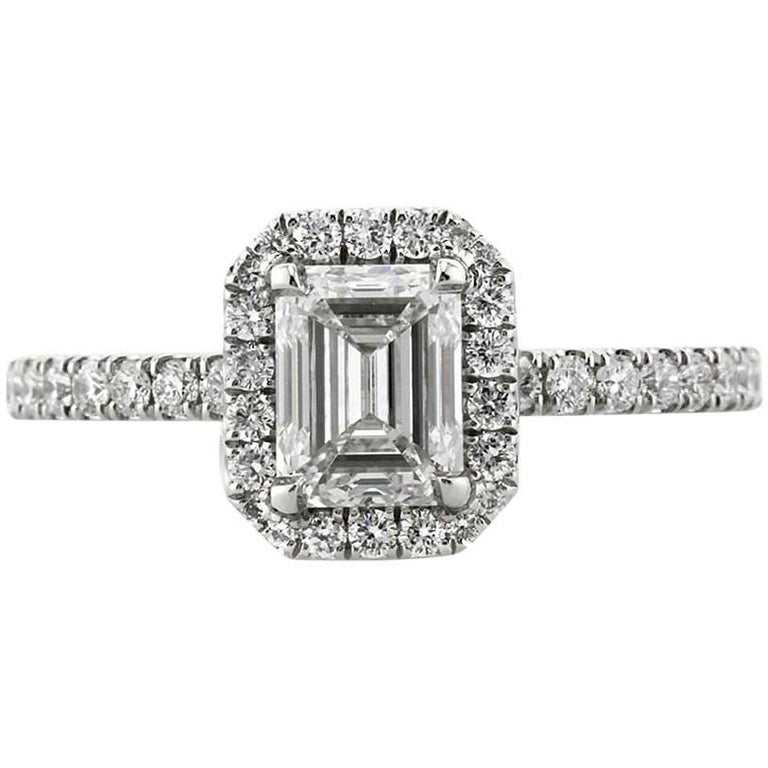 Mark Broumand 1.57 Carat Emerald Cut Diamond Engagement Ring