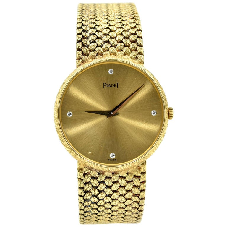Piaget Yellow Gold Vintage Automatic Wristwatch