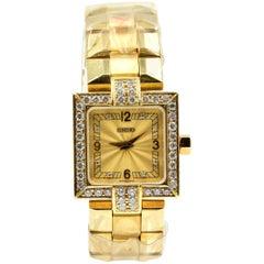 Concord Ladies Yellow Gold Diamond Vintage quartz Wristwatch