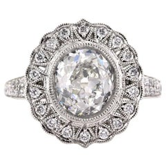 Mark Broumand 2.77 Carat Old Mine Cut Diamond Engagement Ring