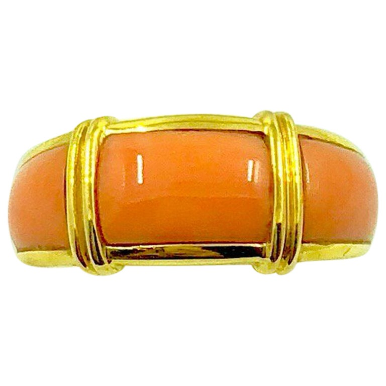 Gold Coral Band Ring