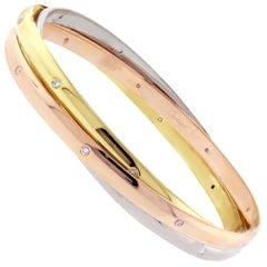 Cartier Trinity Bangle Bracelet with Diamonds