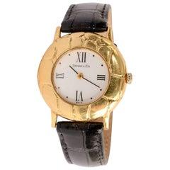 Tiffany & Co. Yellow Gold Alligator Wristwatch