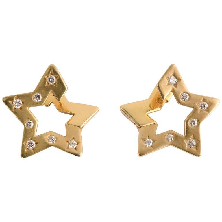 Twinkling Star Diamond Earrings