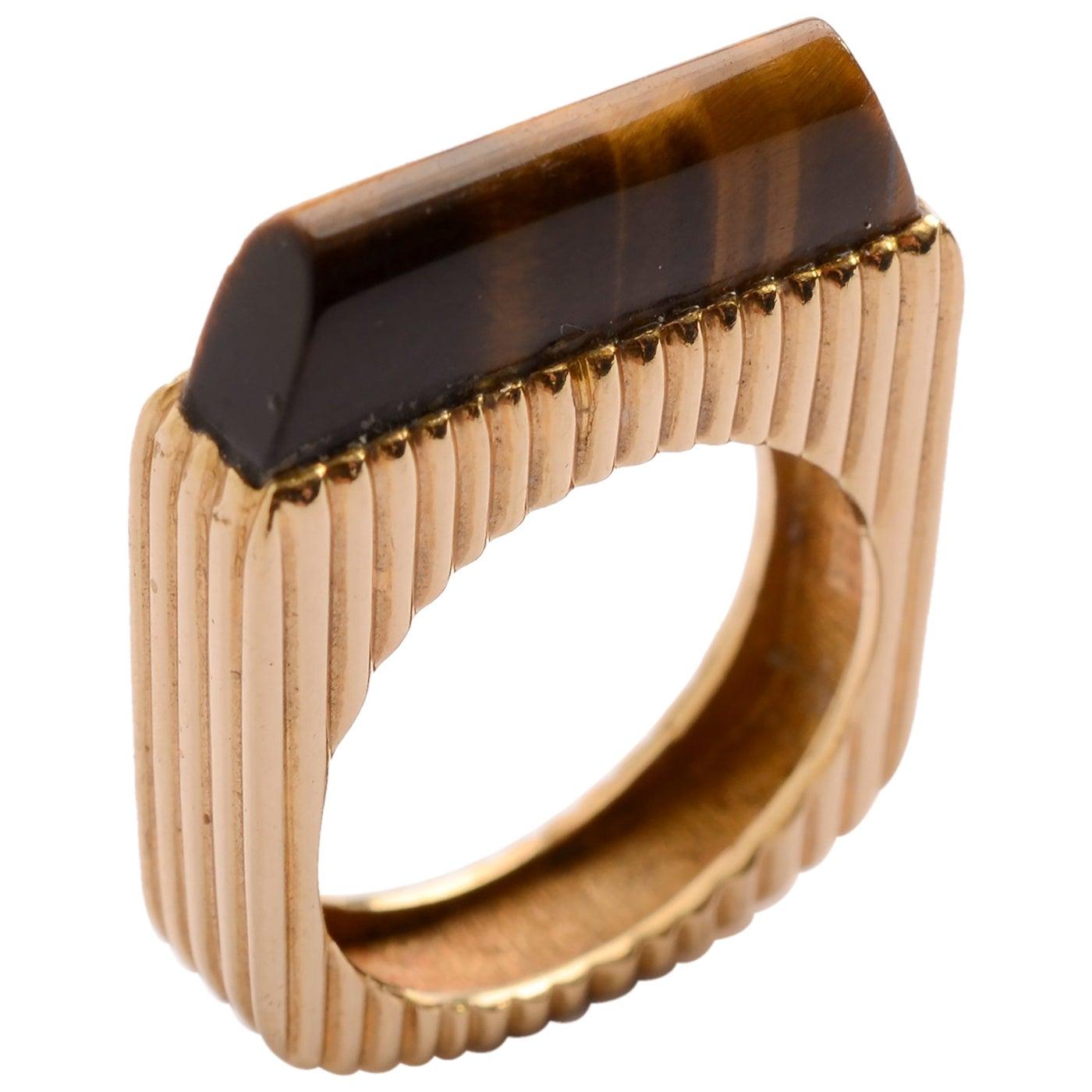 Tiger's Eye Gold Ring