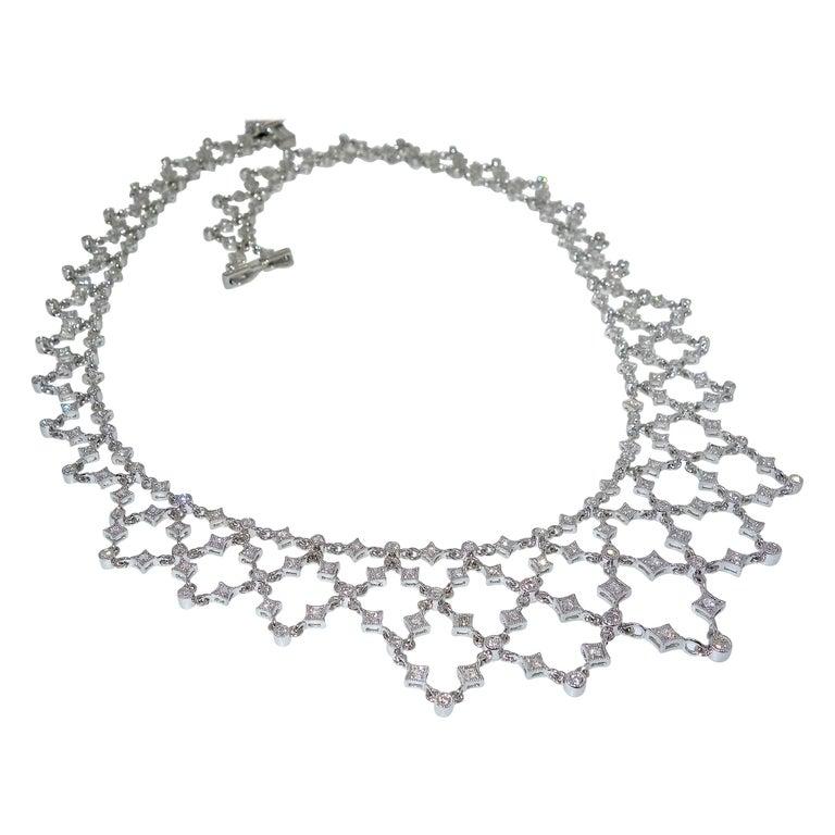 Diamond and 18 Karat Fine Necklace