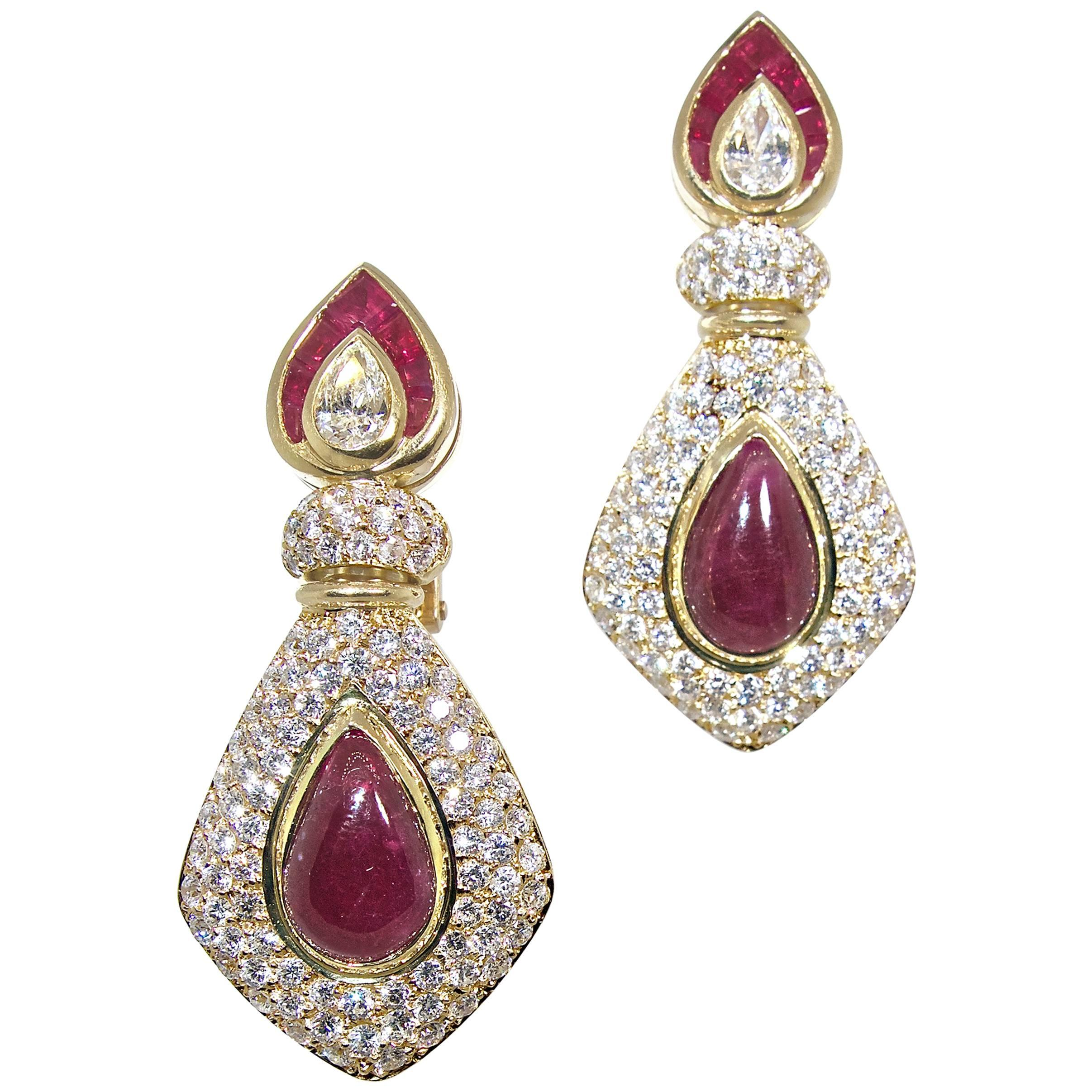 champagne earring diamond rosegold pyramid earrings products diamonds with