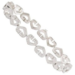 Cartier Diamond Hearts and Symbols Bracelet 1.81 Carat