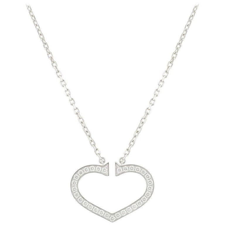 Cartier Diamond Hearts and Symbols Necklace 0.58ct