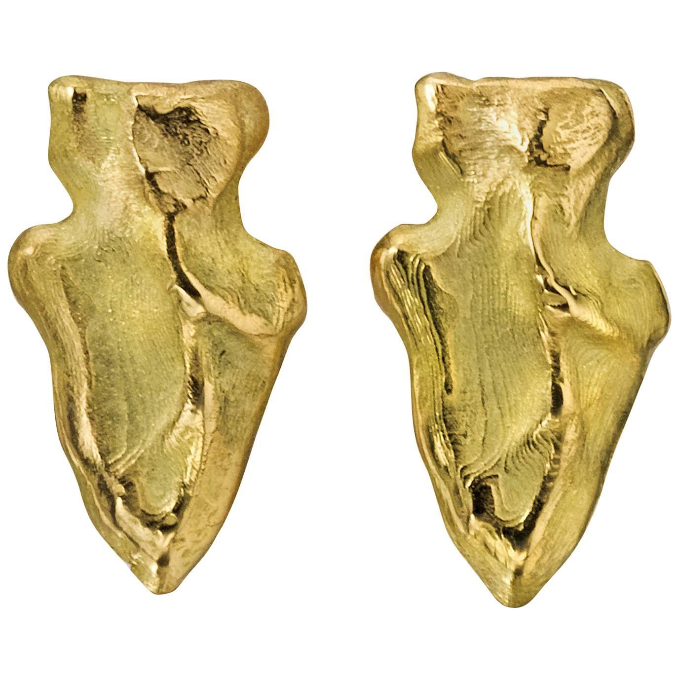 Wendy Brandes Arrowhead Gold Stud Earrings