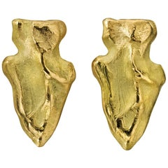 Wendy Brandes Arrowhead Gold Stud Earrings