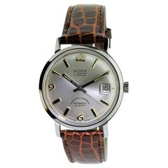 Altair Stainless Steel Calendar Automatic Watch New Old Stock