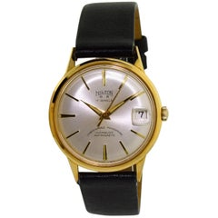 Hilton Yellow Gold Filled New Old Stock Manual Wristwatch, circa 1950's
