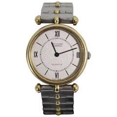 Vintage Ladies Van Cleef & Arpels Gold and Steel Quartz Watch