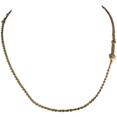 Aldo Cipullo 18 Karat Yellow Gold Chain with Diamond Wrench
