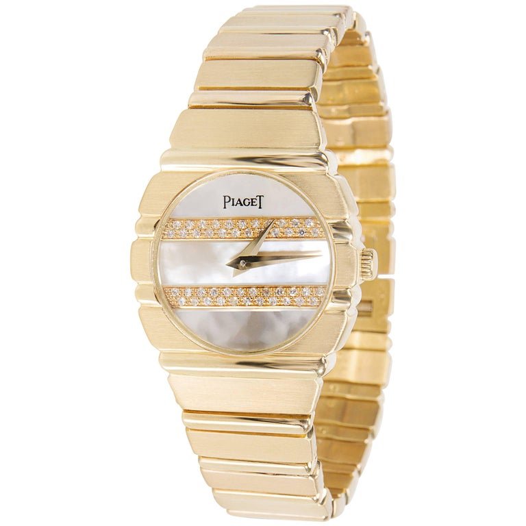 Piaget Polo 861 C 701 Women's Watch Mother of Pearl Dial in 18K Yellow Gold
