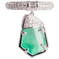 Emerald and Diamond Tassel Ring