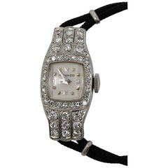 Movado Wristwatch in Platinum with 48 Diamonds