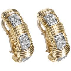 Roberto Coin Appasionata Diamond Earrings in 18k Two-Tone Gold 0.36 Carats