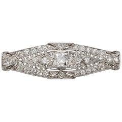 Platinum and Diamond Lozenge Brooch