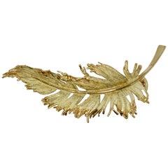 18 Karat Yellow Gold Tiffany & Co. France Leaf Brooch