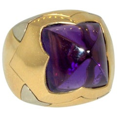 Bulgari Amethyst and Bi-Color Gold Ring